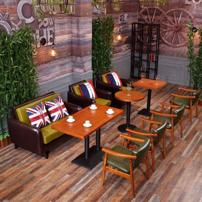 Latest Modern Wooden Coffee Shop Restaurant Furniture Set SE005-6