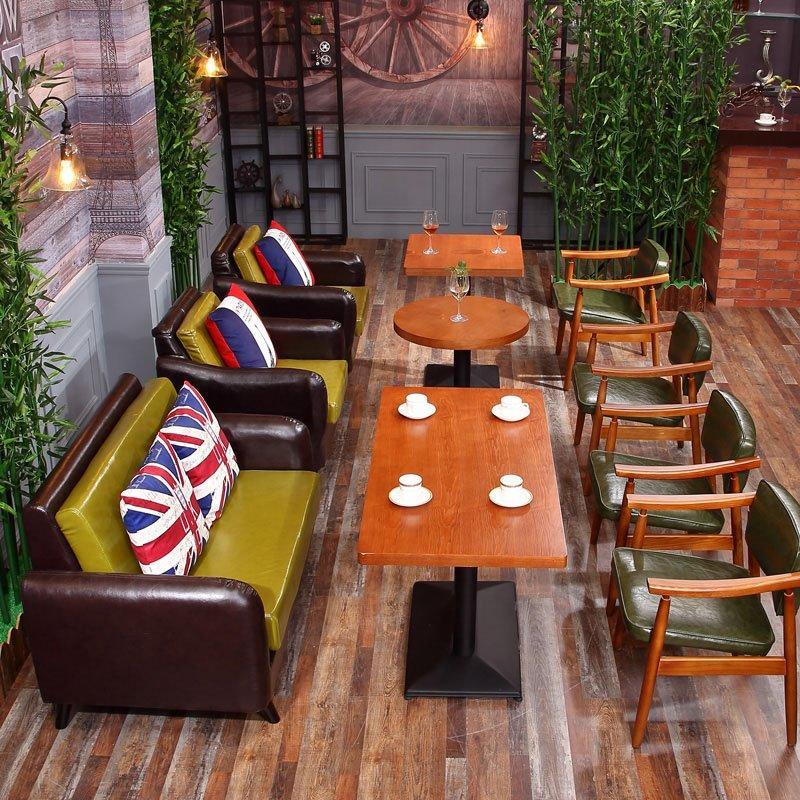 Latest Modern Wooden Coffee Shop Restaurant Furniture Set SE005-6