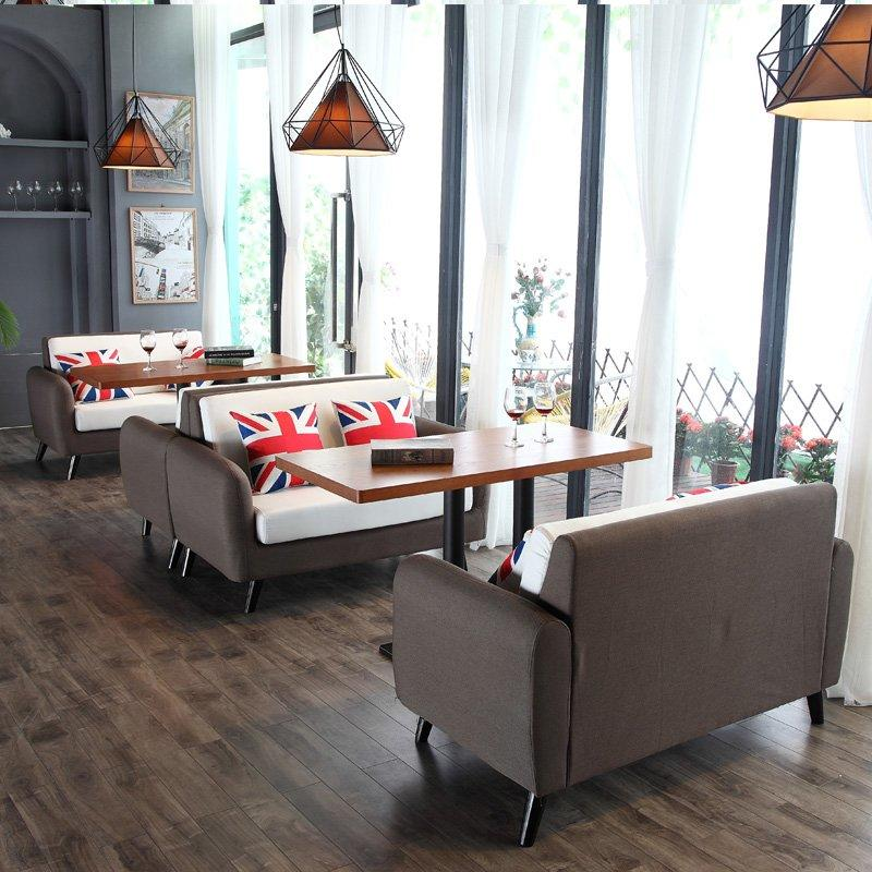 Nordic Style Restaurant Furniture Bistro Table And Sofa SE005-8
