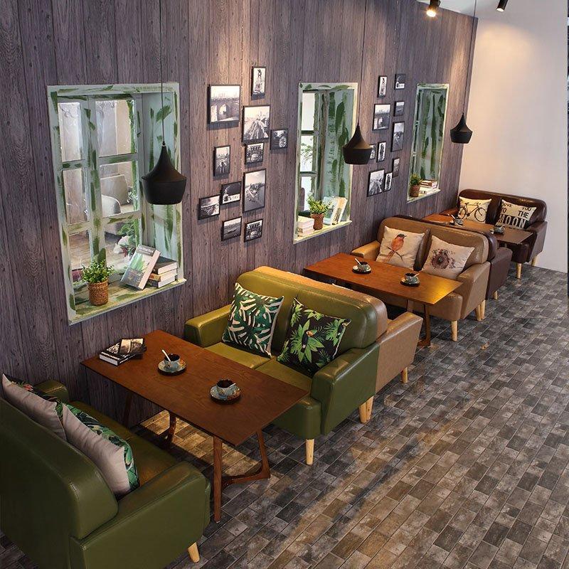 Retro Nostalgic Design Restaurant Sofas And Tables Bar Dining Seating SE006-8
