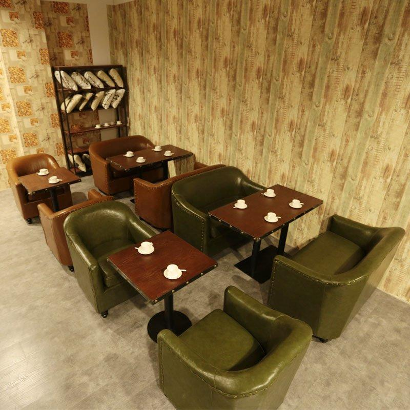 Urban Industrial Catering Furniture Restaurant Sofa And Table Set SE012-1