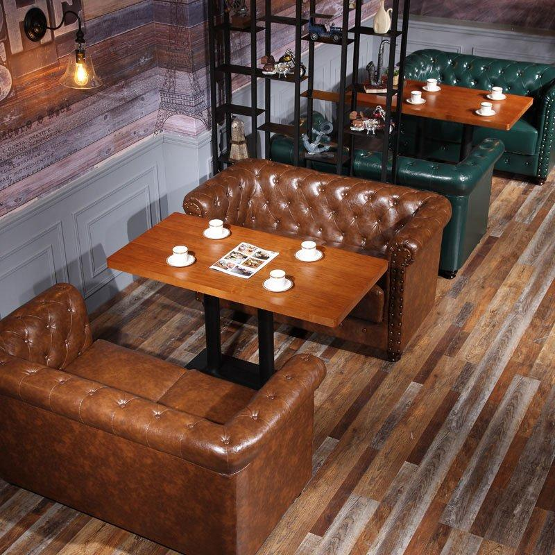 Vintage Industrial Styles Furniture Coffee Shop Use Tables And Sofa SE021-2