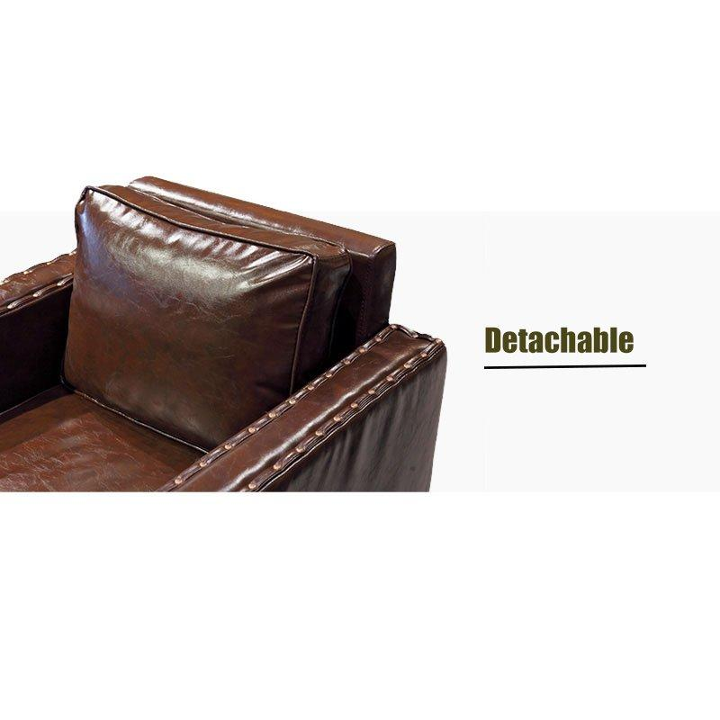 Classic Restaurant Furniture Leather Sofa Solid Wood Table SE019-4
