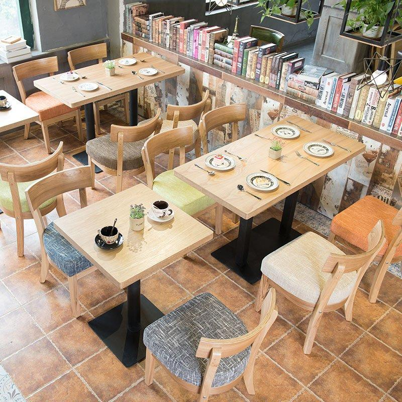 Nordic style Customized Coffee Shop Furniture Wooden Dining Table And Chair GROUP18