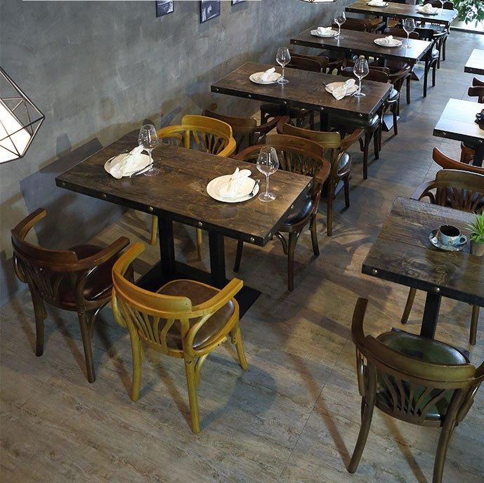 Industrial Loft Furniture Restaurant Retro Wood Table Catering Chair GROUP57