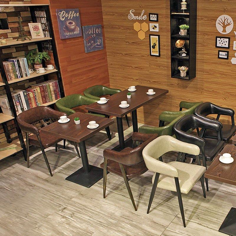 Nostalgic Style Restaurant Metal Chair And Table Combination GROUP33