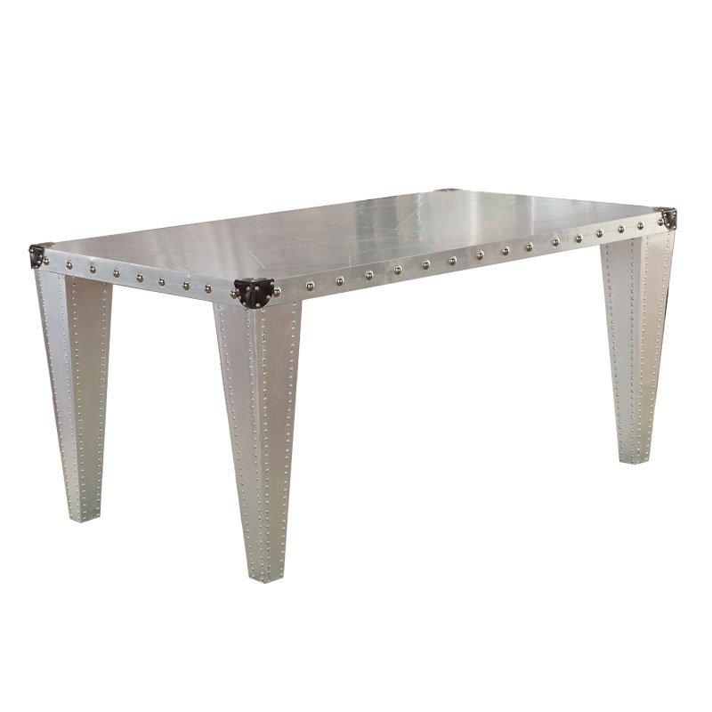 Industrial Loft Style Metal Dinging Long Table With Rivet TD002