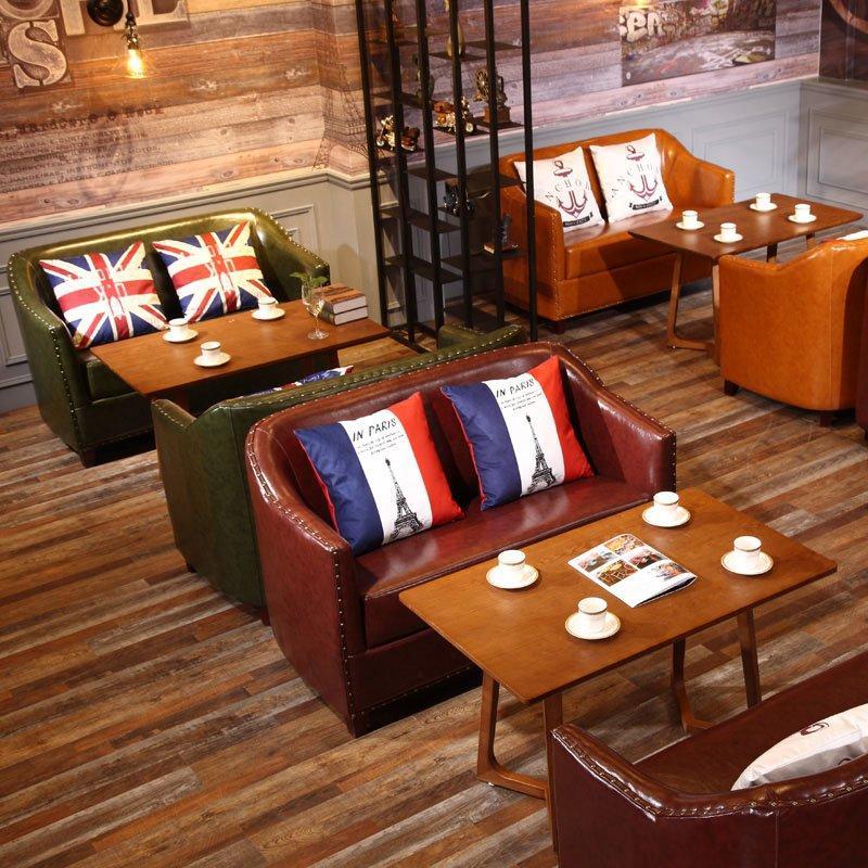 Retro Rustic Log Furniture Eatery Wood Table And Sofa SE012-10