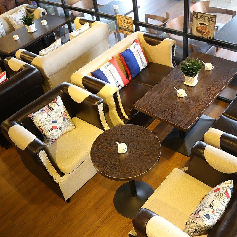 Fashion Coffee Shop Furniture Comfortable Sofa And Table SE015-2