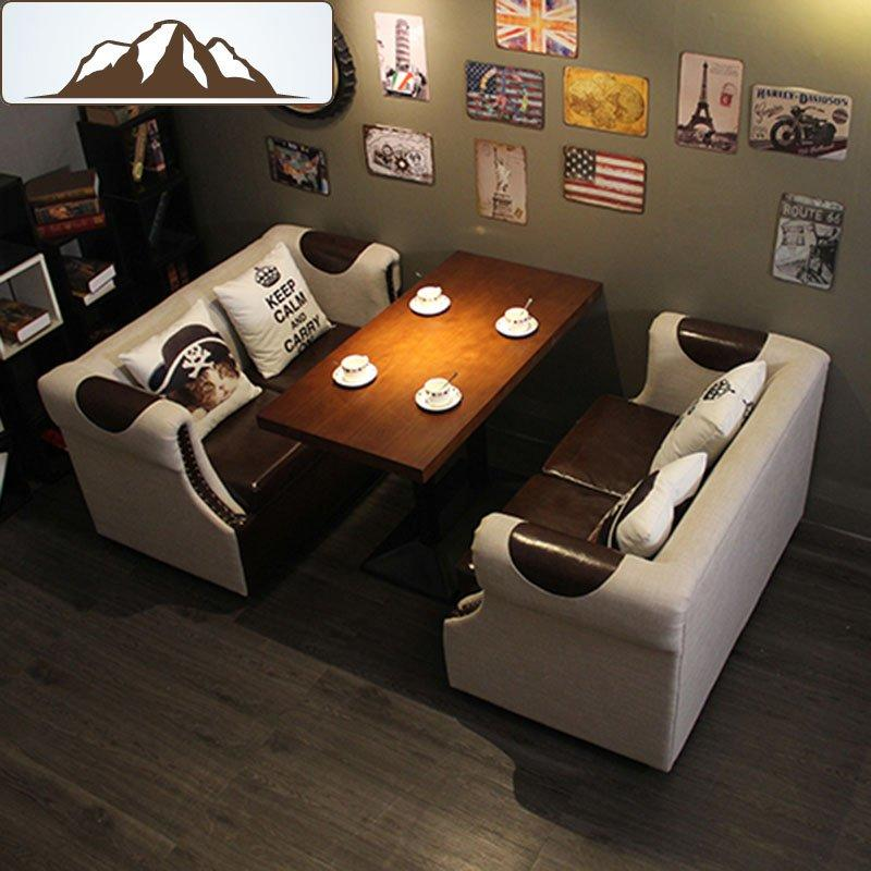 Commercial Restaurant Sofa Seating And Dining Table Set SE015-3