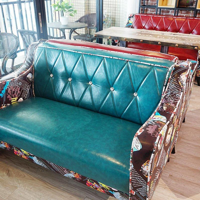 Industrial Bar Furniture Retro Dining Table And Couch SE017-1