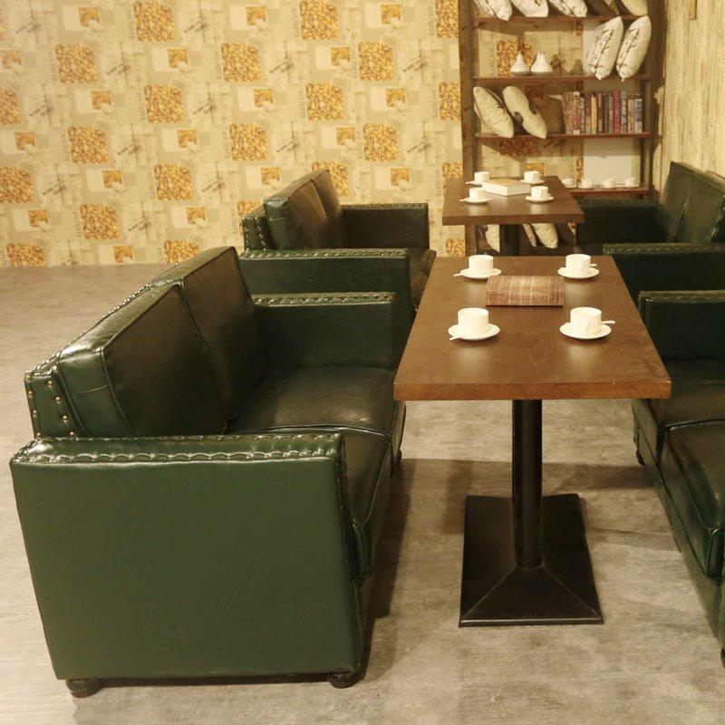 Nostalgic Hotel Banquette Seating And Rectangle Table Set SE019-6