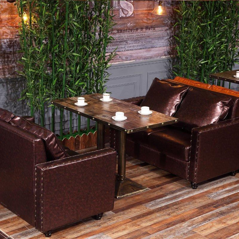 Rustic Catering Furniture Coffee Shop Table And Sofa SE019-8