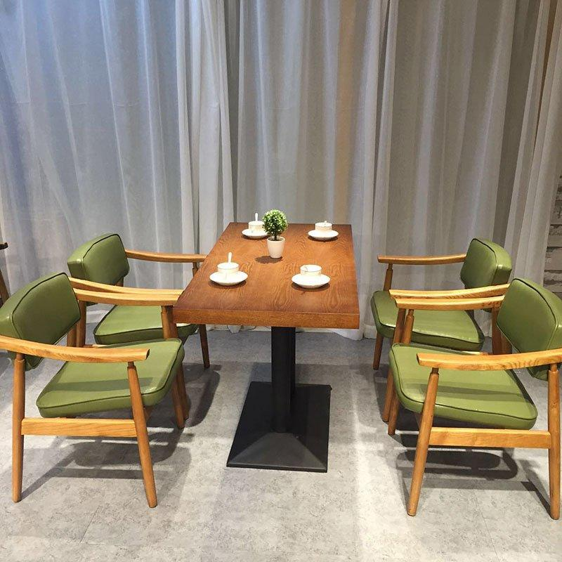 Nostalgic Restaurant Pull Clasp Sofa And Wooden Table SE021-1