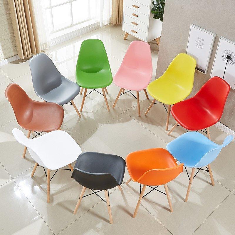 Modern Eames Plastic Chair Coffee Shop Dining Chair CD001