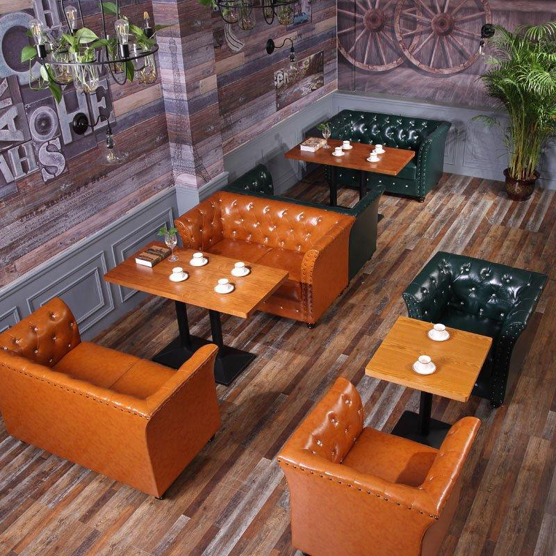 Commercial Restaurant Sofa Seating And Wooden Table SE026-1