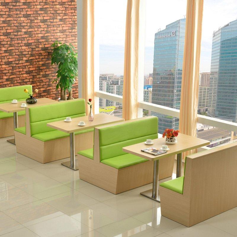 Concise Style Restaurant Booths Seating And Table Set SJ001-1