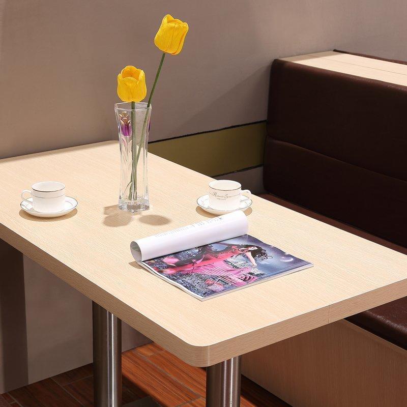 Modern Restaurant Corner Booths And Wood Table SJ001-2