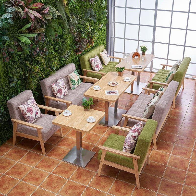 Modern Hotel Dining Table And Linen Fabric Sofa Chair SJ002-5