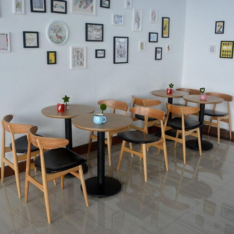 Modern Restaurant Log Furniture Wood Table And Chair GROUP7