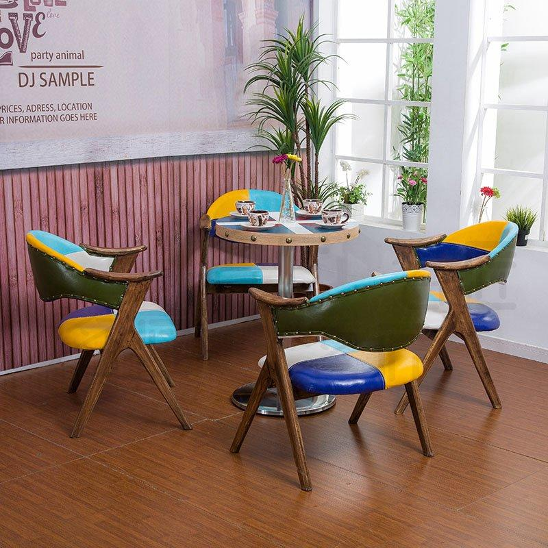 American Village Style Coffee Shop Dining Table And Chair GROUP12