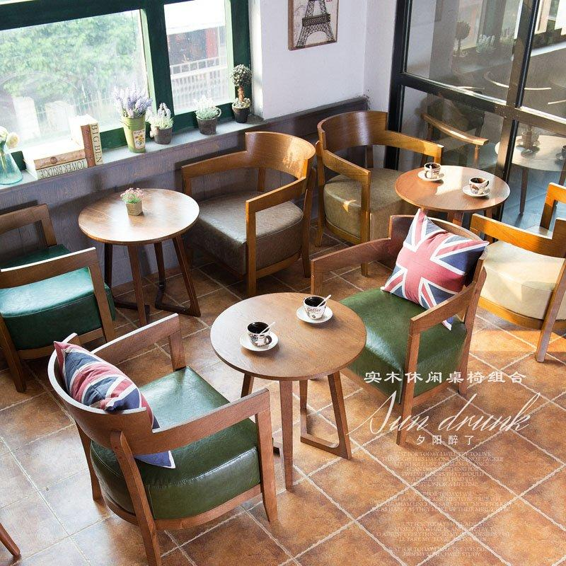 Leisure Cafe And Bakery Wooden Sofa Chair And Table GROUP13