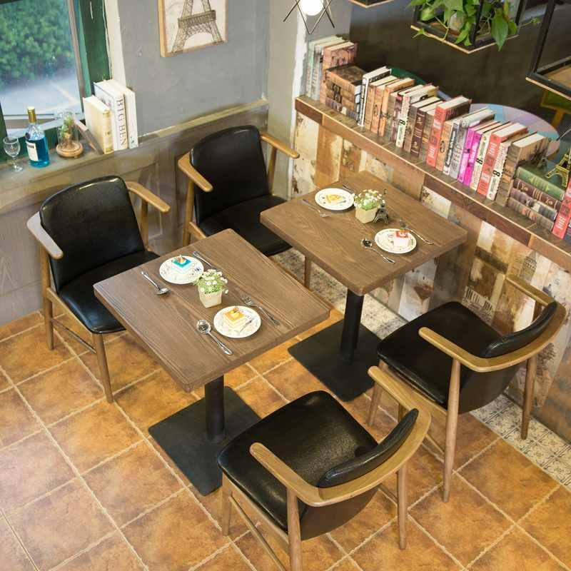 Nostalgic Style Wooden Armrest Chair And Dining Table GROUP20