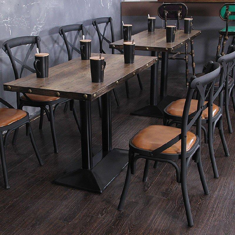 Industrial Loft Style Restaurant Furniture Iron Dining Set GROUP22