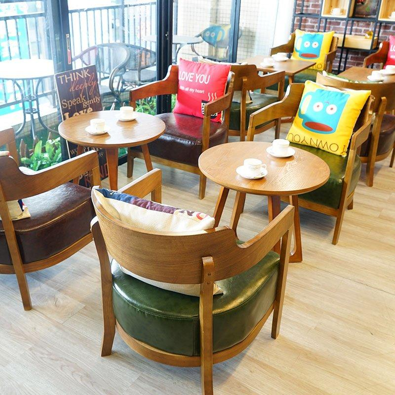 Contemporary Starbucks Coffee Furniture Wood Table Seating GROUP23