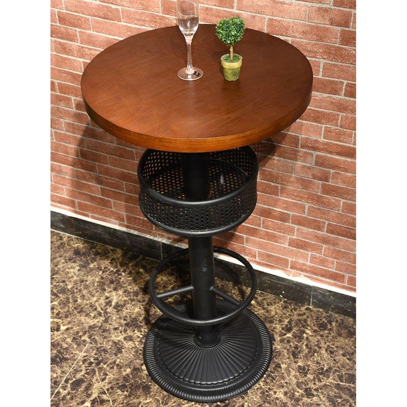 Retro Bar Furniture Wooden High Chair And Bar Table GROUP26
