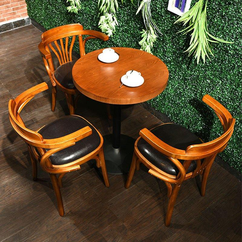 Nostalgic Style Restaurant And Bar Wood Table Chair GROUP27