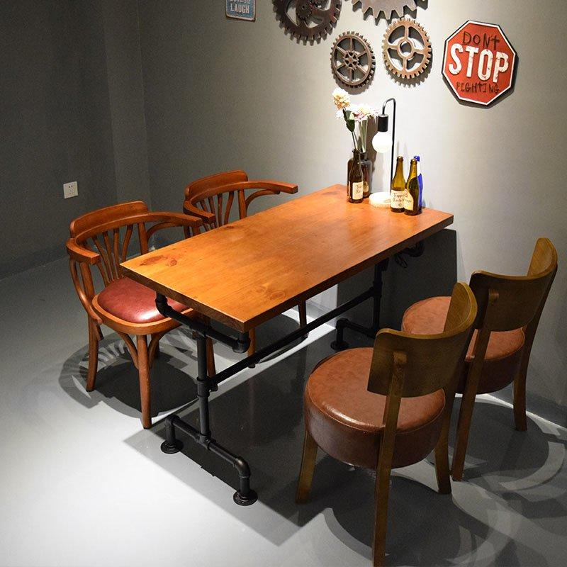 Retro Industrial Style Hot Pot Restaurant Wood Furniture GROUP30