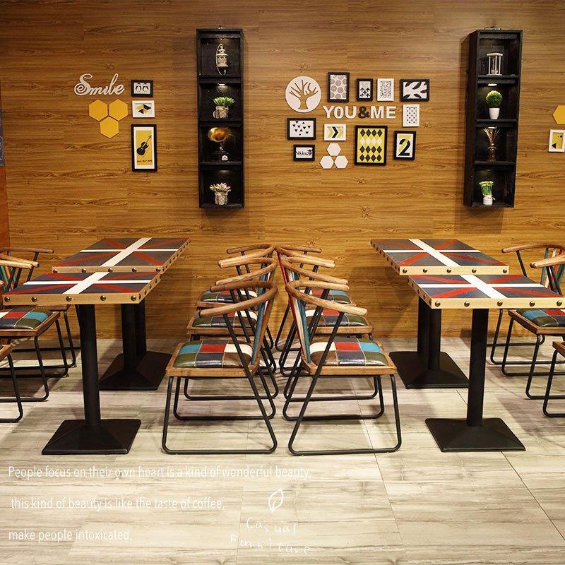 Industrial Wood Furniture Custom Restaurant Table Chair GROUP34