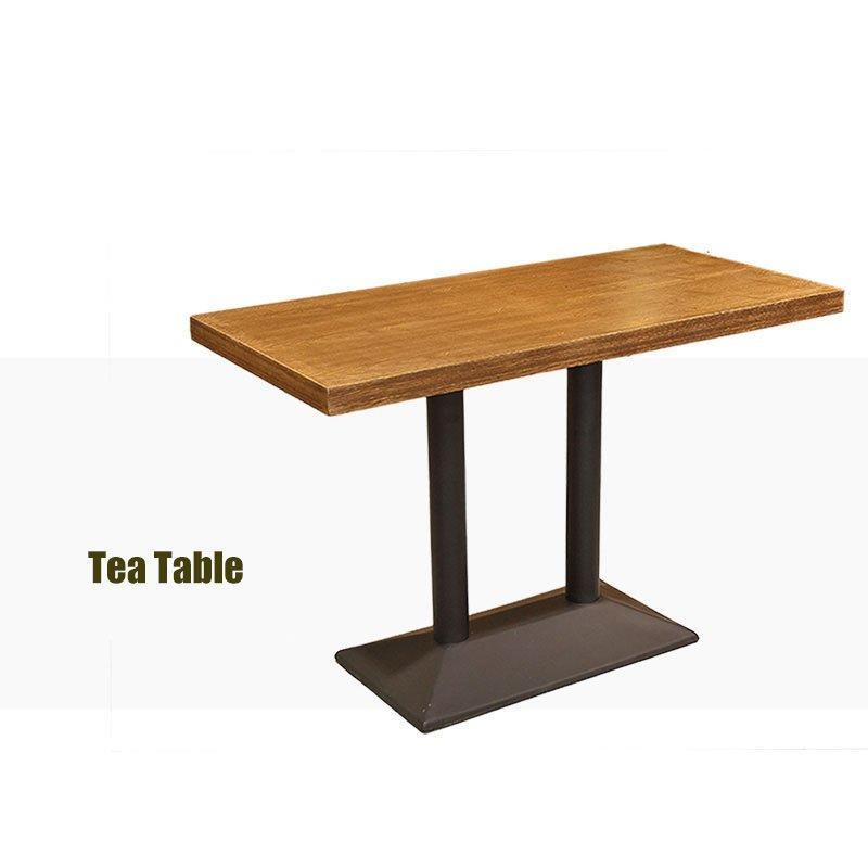 Retro Canteen Wooden Table And Armrest Chair GROUP35