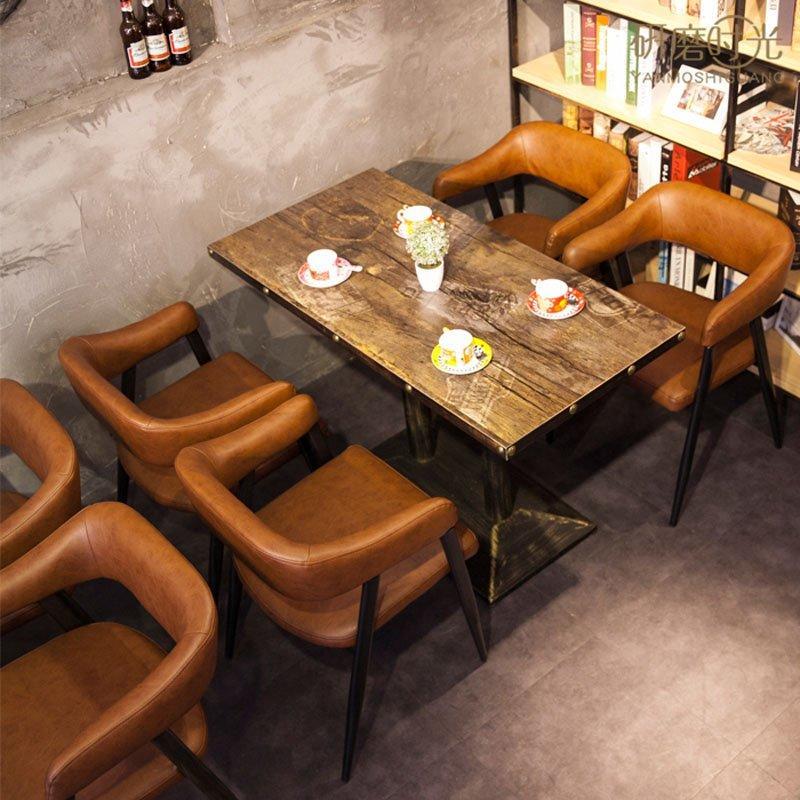 Industrial Restaurant Furniture Metal Dining Table Set GROUP39