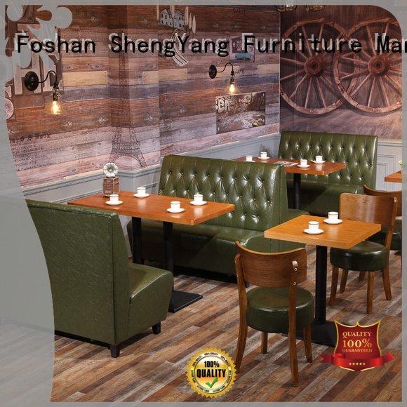 Quality booth dining table ShengYang Brand modern furniture