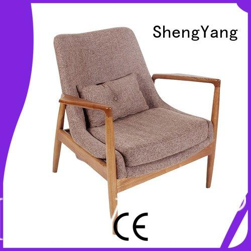 ShengYang wood double shop leather recliner chairs inn