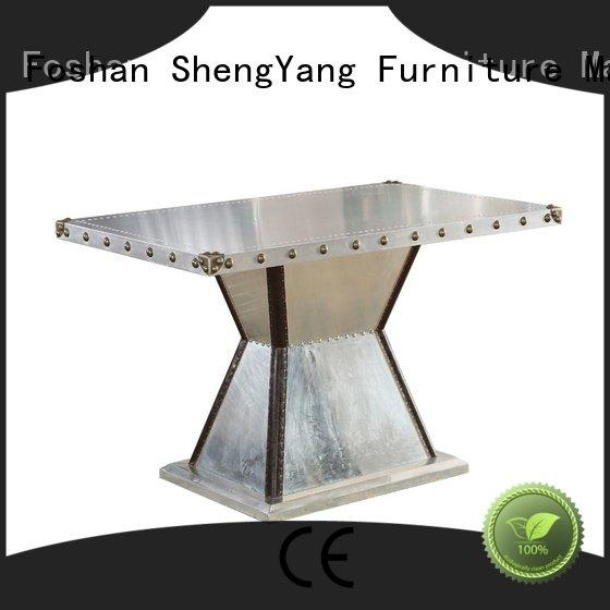 Quality industrial dining table ShengYang Brand round industrial table