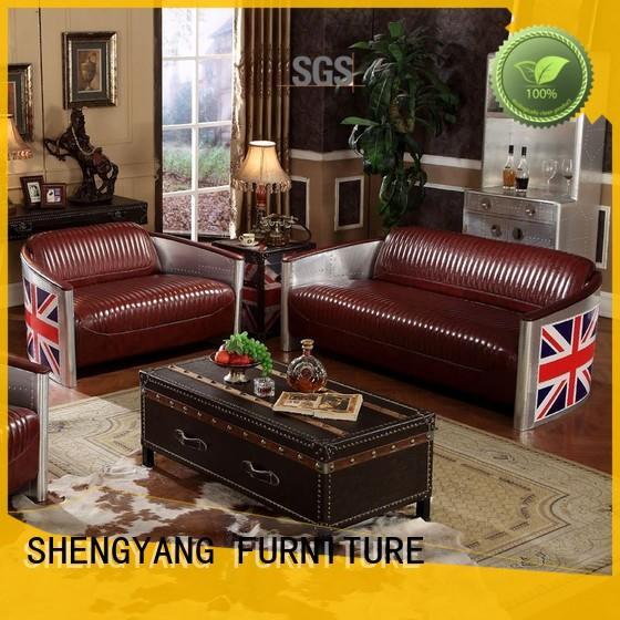 industrial sofa leather loft single restaurant industrial sofa manufacture
