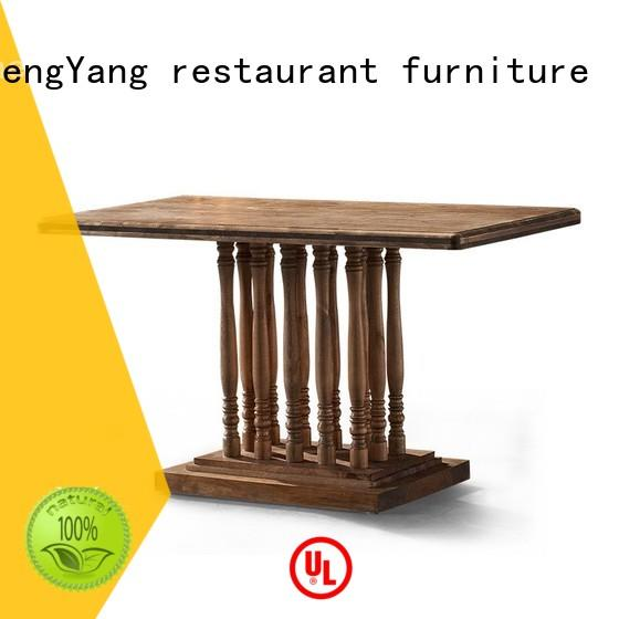 antique tc005 rectangles industrial dining table ShengYang restaurant furniture Brand