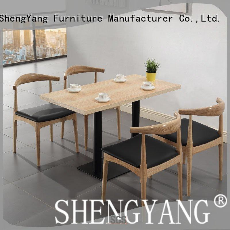 Modern Restaurant And Snack Bar Wood Table And Chair Set GROUP1