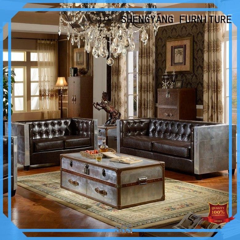 ShengYang restaurant furniture Brand group sofa restaurant industrial sofa manufacture