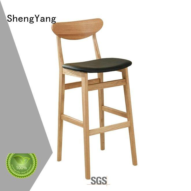 ShengYang Brand horn soft ox metal counter stools