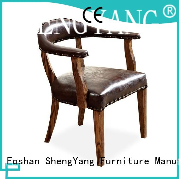 Classical Hot Pot Restaurant Banquet Leather Chair With Rivet CB003