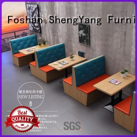 competitive price restaurant couch seating factory ShengYang restaurant furniture