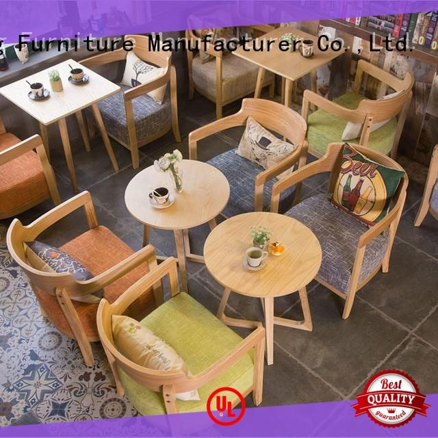 wooden dining room table and chairs low for coffee house ShengYang restaurant furniture