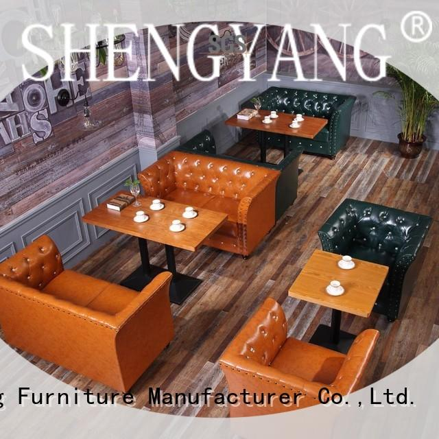 settee canteen benches sj00220 for VIP lounge ShengYang restaurant furniture