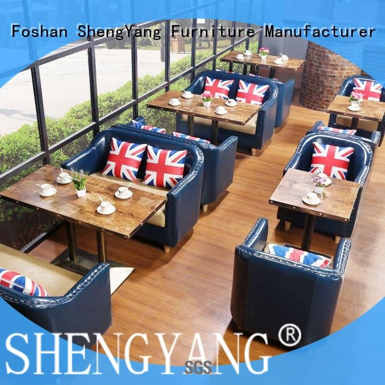 canteen wooden booth se00160 ShengYang restaurant furniture
