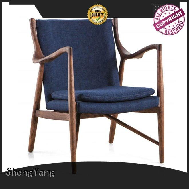ShengYang leather recliner chairs double sofa linen leisure