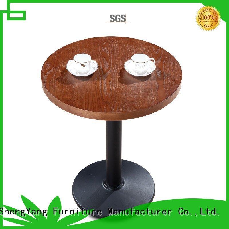 ShengYang restaurant furniture Brand modern wood food bar table